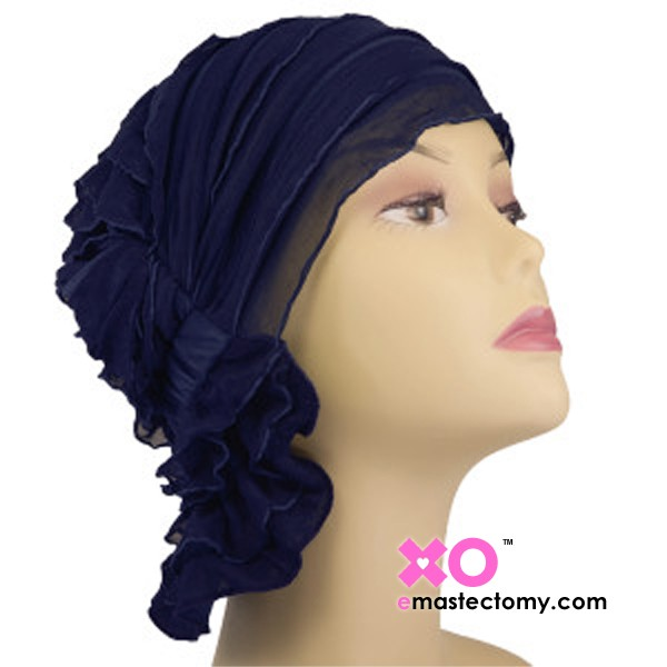 Betty Chemo Beanie Navy Ruffle