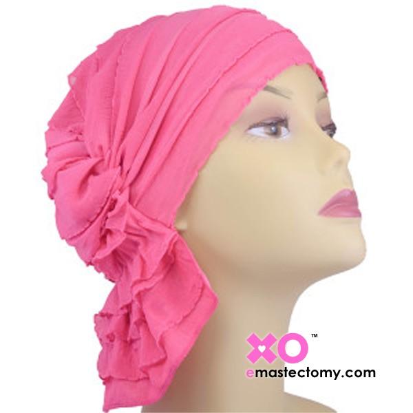Carol Chemo Beanie Pink Ruffle