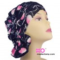 Delia Chemo Beanie Black With Pink Ruffle