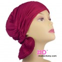 Denise Chemo Beanie Currant Wavy Knit