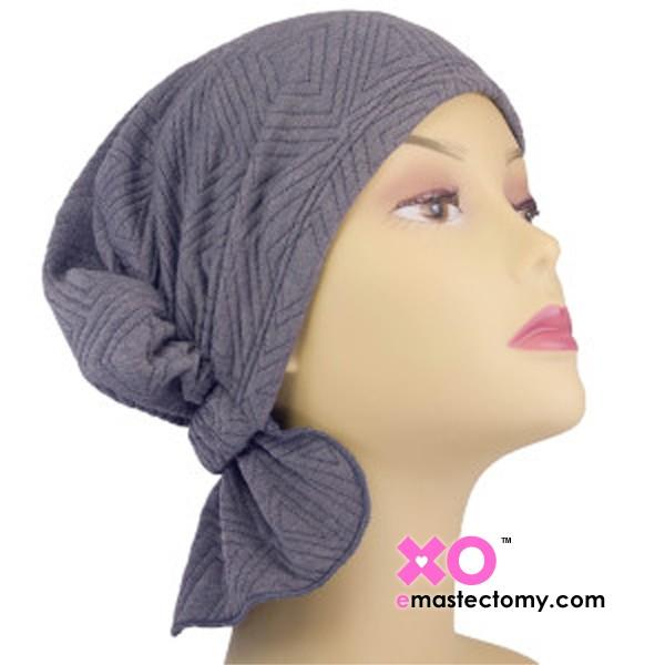 Elaine Chemo Beanie Heather Grey Quilt