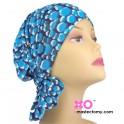 Gwen Chemo Beanie Teal/Blue Print