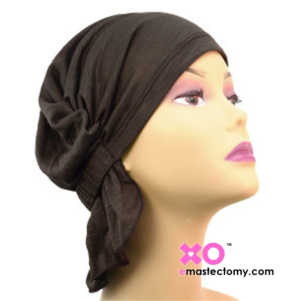 Mary Z Chemo Beanie Brown Solid