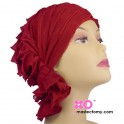 Nancy Chemo Beanie Red Ruffle