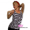 Mastectomy Tank Top With Built In Pocketed Bra and Sewn-In Foam Cups With Adjustable Straps - Nylon/Lycra
