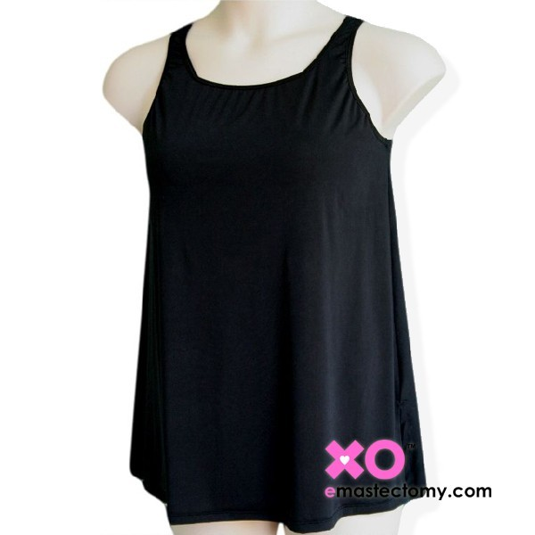 Mastectomy Tank Top with built in pocketed bra